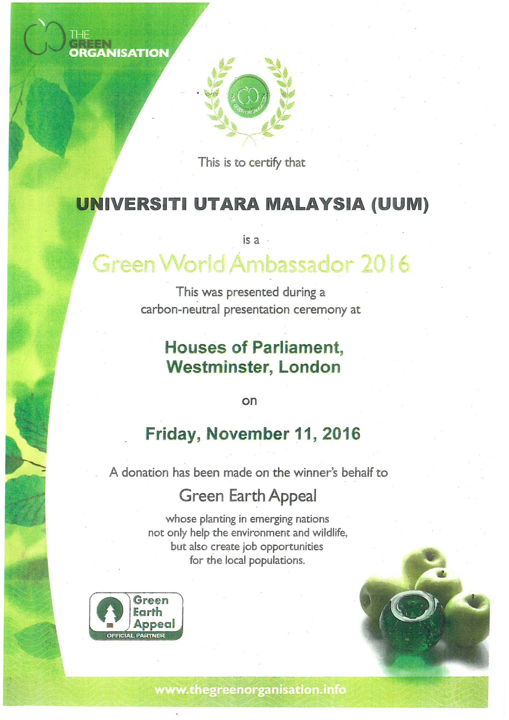 Green World Ambassador