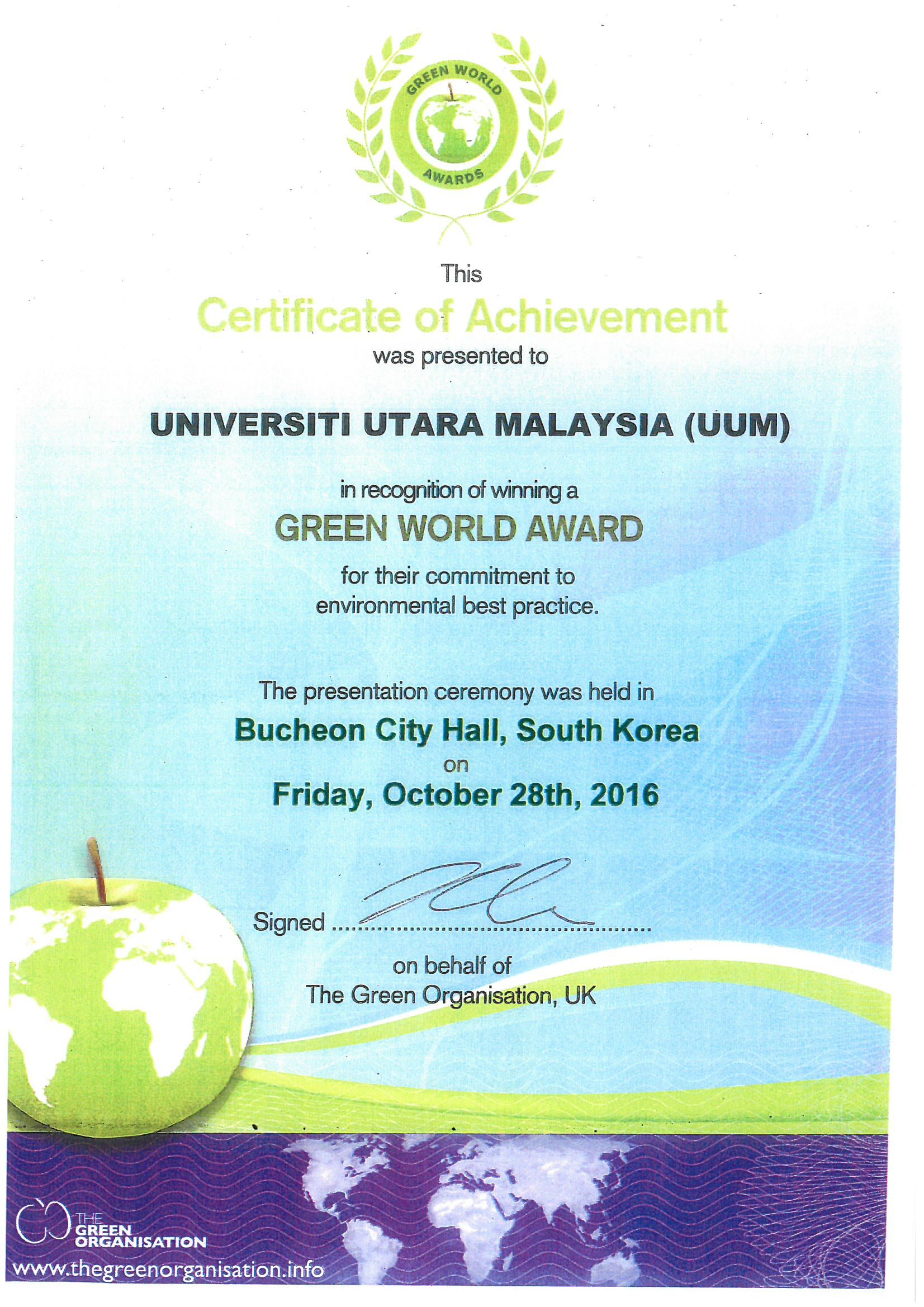 Green World Award