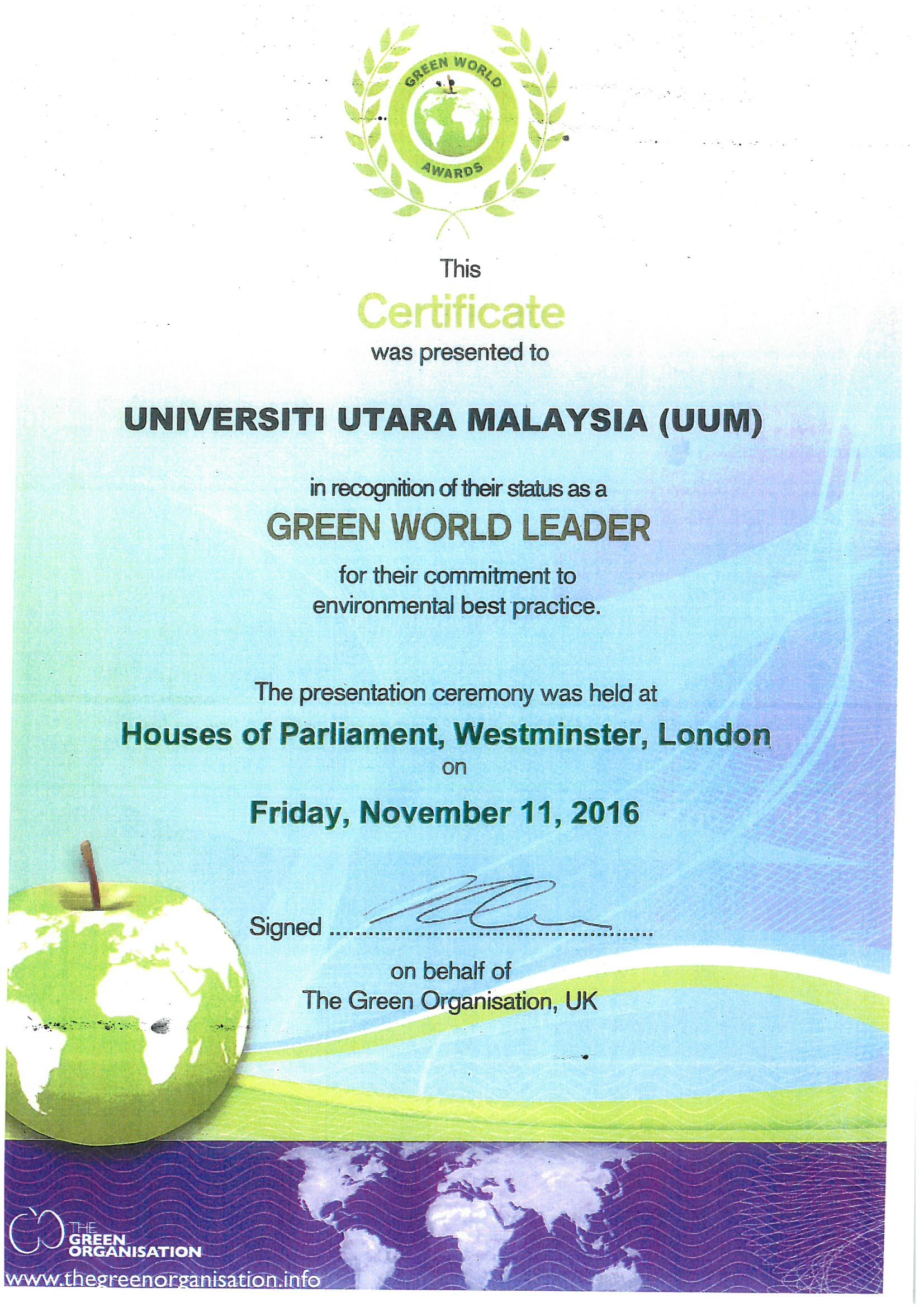 Green World Leader